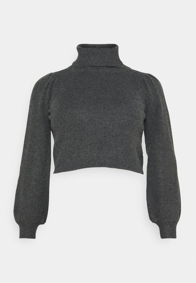 PCMSALSA ROLL NECK - Jersey de punto - dark grey melange