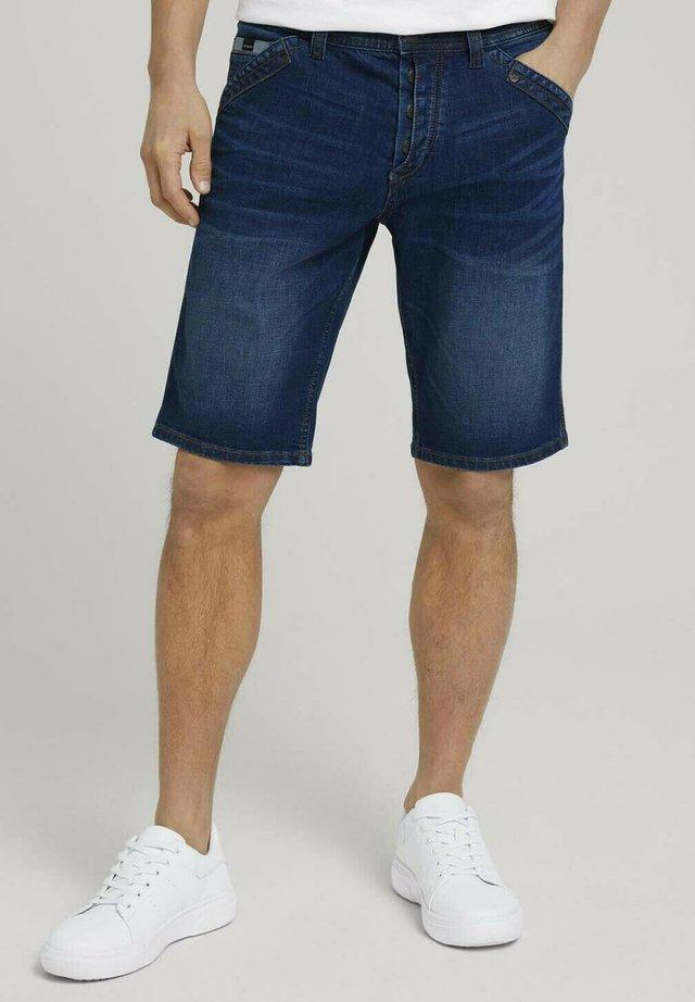 Shorts di jeans - used dark stone blue denim