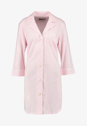 HERITAGE 3/4 SLEEVE CLASSIC NOTCH COLLAR SLEEPSHIRT - Nightie - pale pink/white