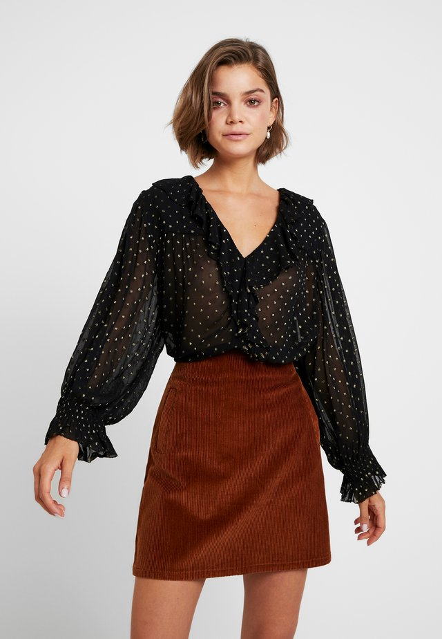CHAMPETRE DOTS - Button-down blouse - black iris