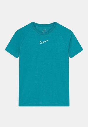 UNISEX - Camiseta estampada - aquamarine/white