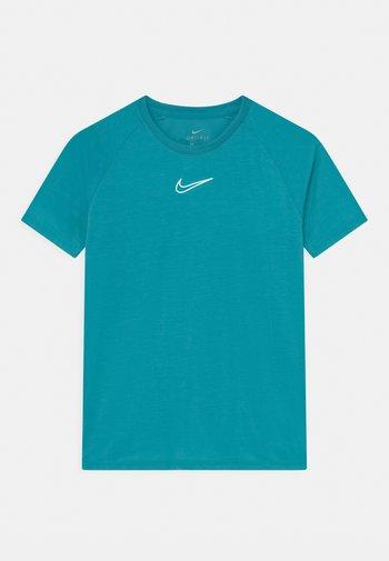 UNISEX - Print T-shirt - aquamarine/white