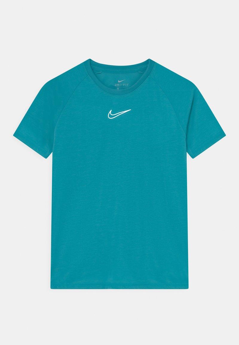 Nike Performance - UNISEX - T-Shirt print - aquamarine/white