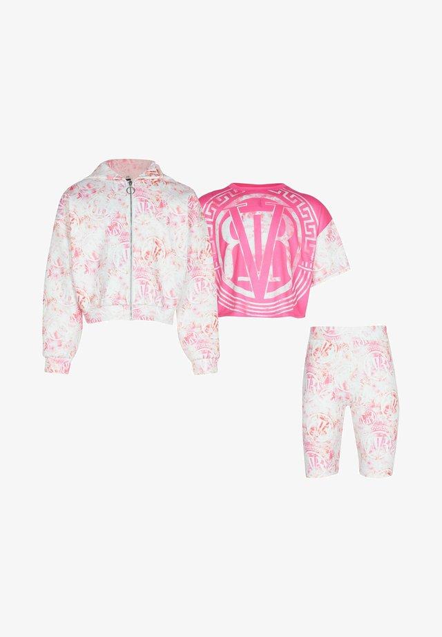 3 PIECE  - Huvtröja med dragkedja - pink