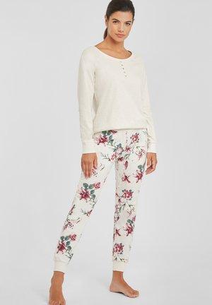 SET - Pyjamas - beige-geblümt