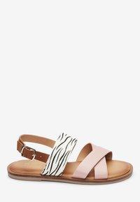 Next - PINK/ ZEBRA CROSS STRAP SANDALS (OLDER) - Sandals - pink - 4