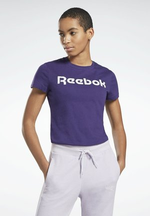 ESSENTIALS TRAINING SHORT SLEEVE GRAPHIC - T-shirt con stampa - purple