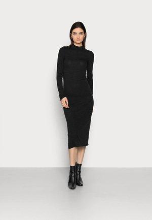 NMCRISTINA HIGH NECK  - Shift dress - black