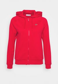 Lacoste Sport - HOOD JACKET - Zip-up sweatshirt - rouge - 4