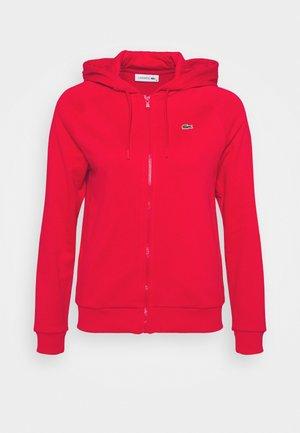 HOOD JACKET - Zip-up sweatshirt - rouge
