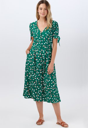 VERONICA DAPPLED SPOT - Day dress - green