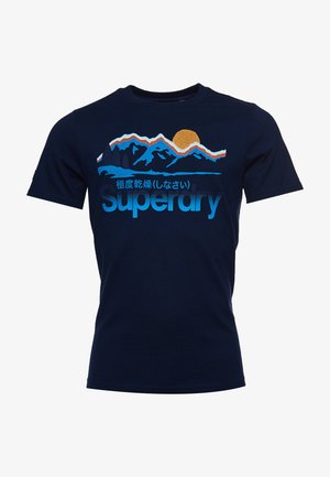 Print T-shirt - pilot mid blue grit