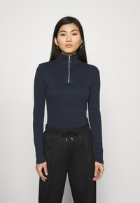 Marc O'Polo DENIM - LONGSLEEVE WITH ZIPPER SPECIAL COLLAR - Long sleeved top - scandinavian blue - 0