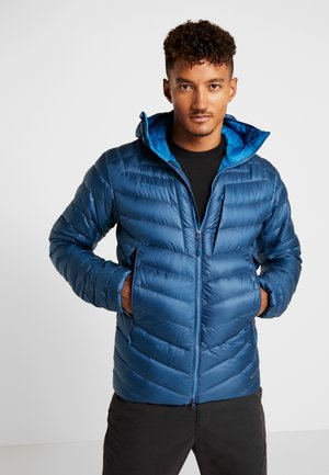 BROAD PEAK IN HOODED - Down jacket - wing teal/sapphire