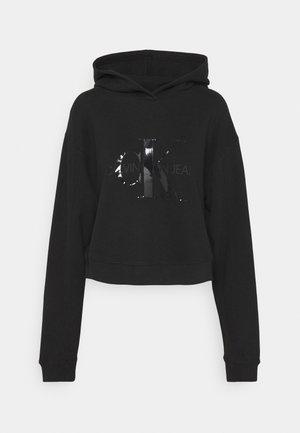 TONAL MONOGRAM HOODIE - Sweatshirt - black