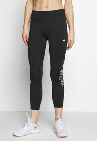 Lotto - VABENE CAPRI - Leggings - all black/bright white - 0