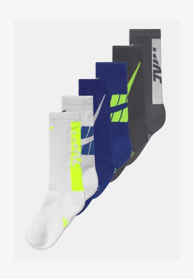 EVERYDAY CUSHIONED CREW 6 PACK UNISEX - Socks - white/blue