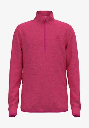 ROY KIDS STRIPE MIDLAYER 1/2 ZIP - Fleece jumper - pink