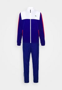 Lacoste Sport - TENNIS TRACKSUIT - Tracksuit - white/cosmic red - 0