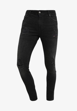 Jeansy Skinny Fit - black denim