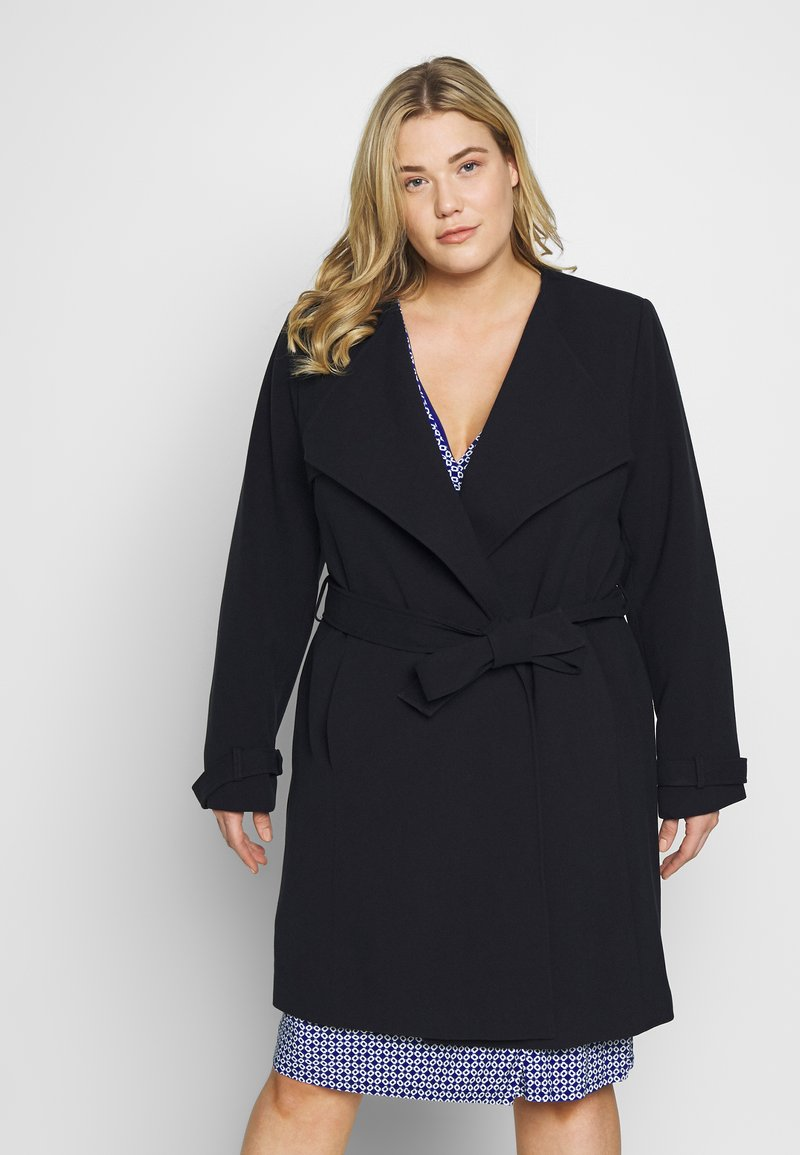 Lauren Ralph Lauren Woman - CREPE SYNTHETIC COAT - Frakker / klassisk frakker - midnight