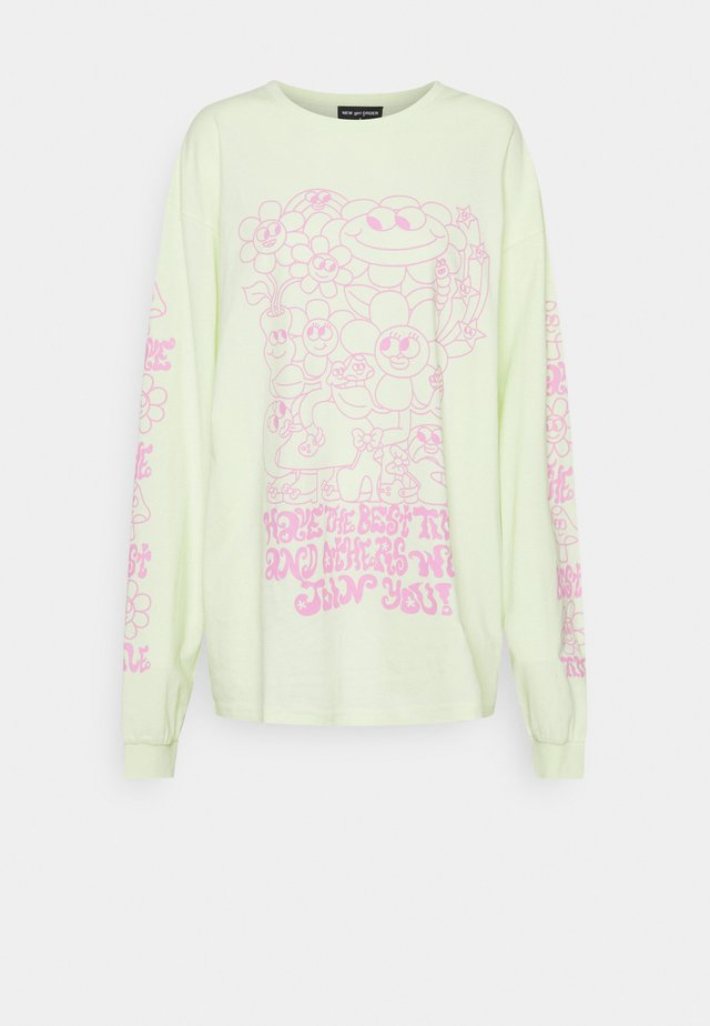 HAVE THE BEST TIME - Long sleeved top - green