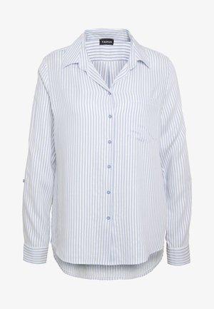 Button-down blouse - blue marguerite