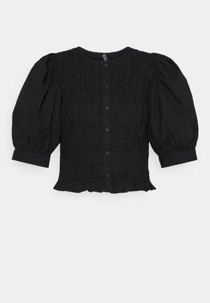 PCTALEAH  SMOCK - Blouse - black