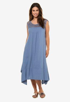 MIT ZIPF - Day dress - smoky blue