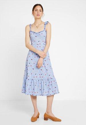 Maxi dress - white/blue