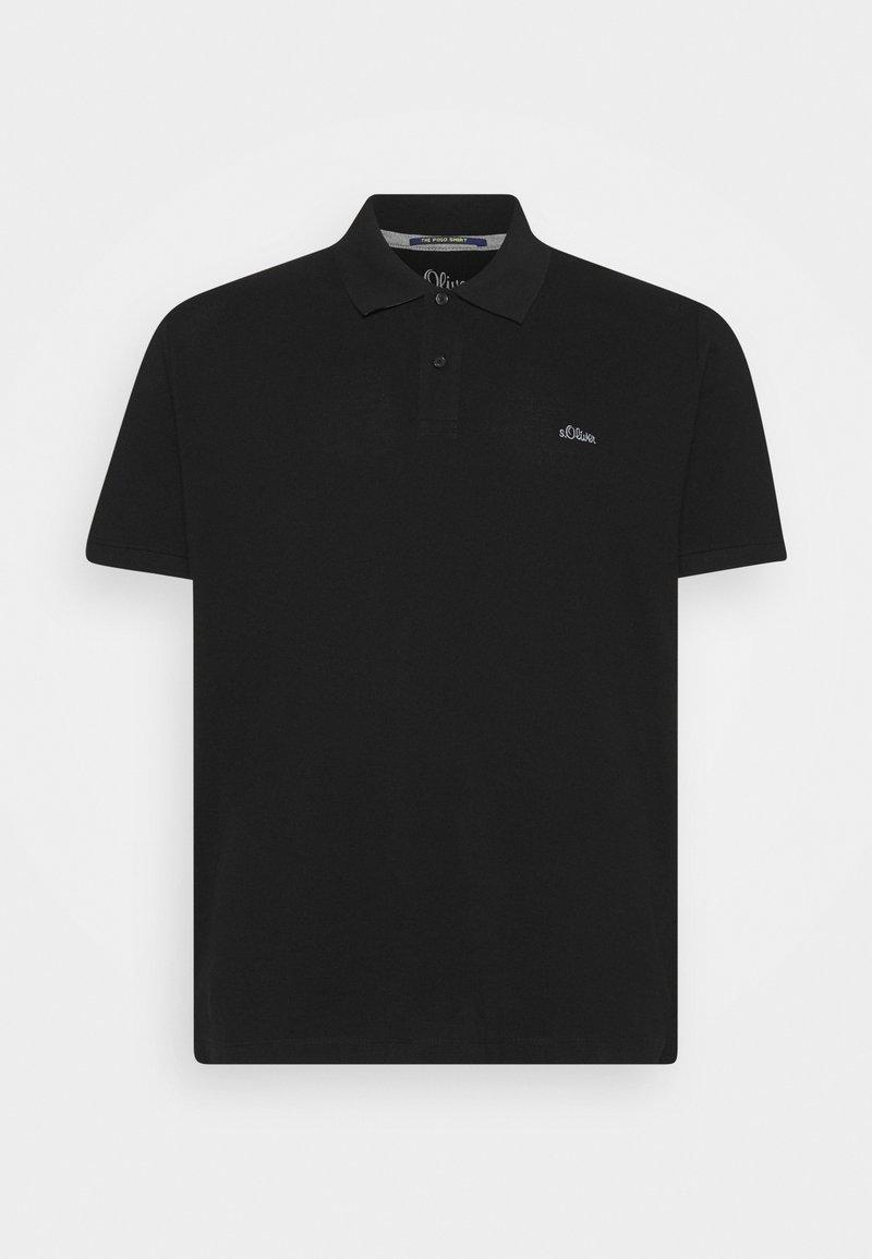 s.Oliver - KURZARM - Polo shirt - black
