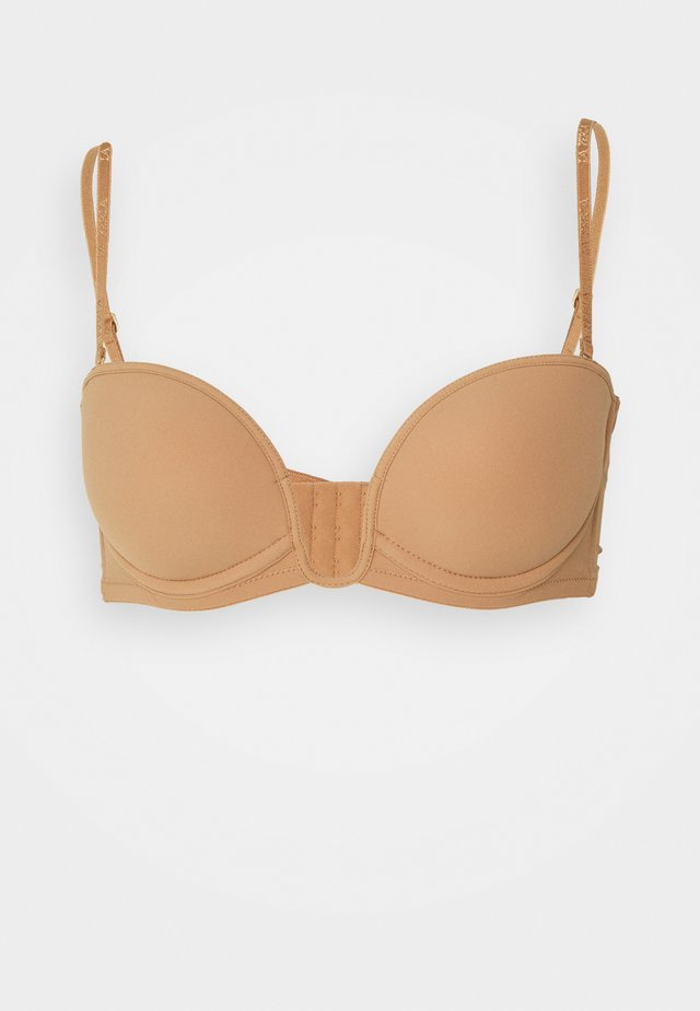PADDED BANDEAUX WITH WIRE - Strapless BH - dark nude