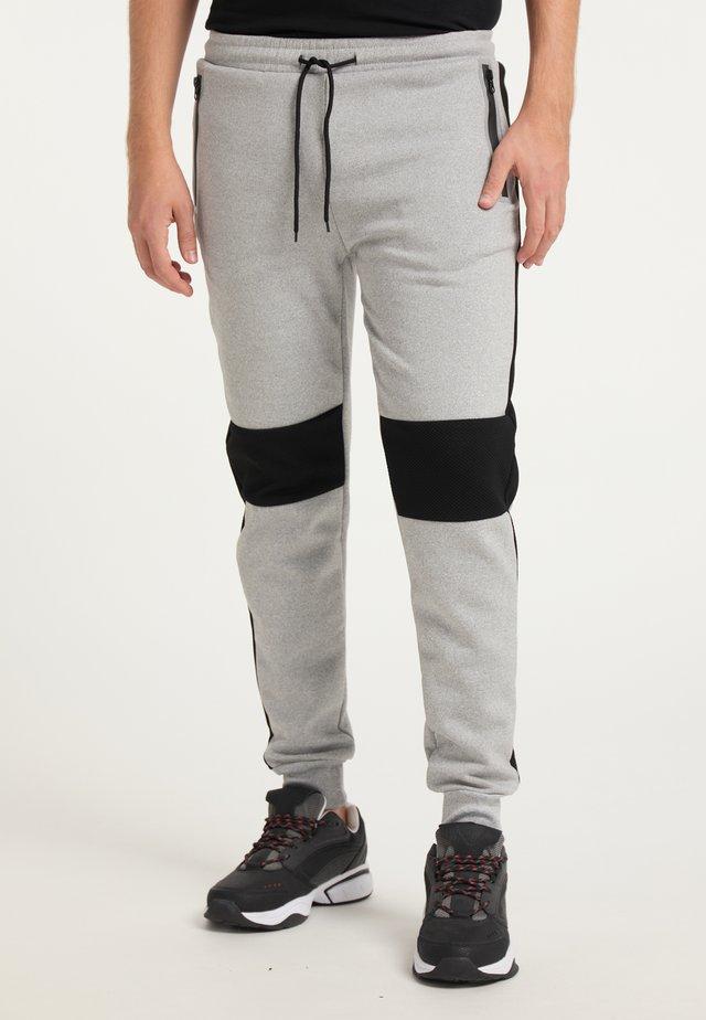 Pantalon de survêtement - hellgrau schwarz