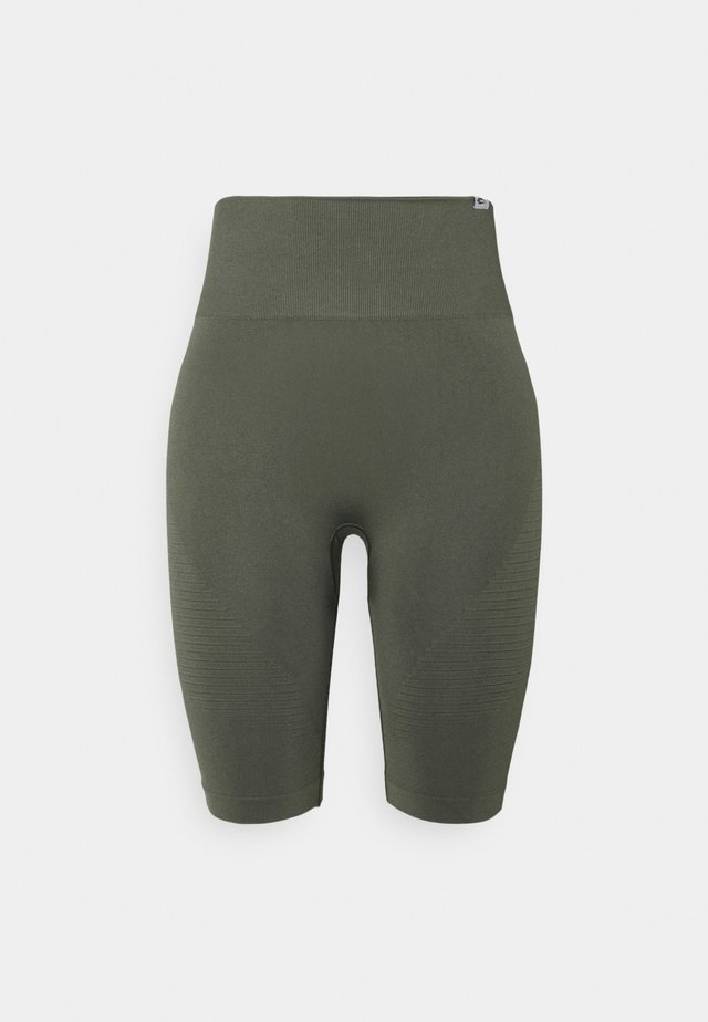SEAMLESS SHORTS BLOOM - Träningsshorts - olive