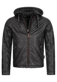 INDICODE JEANS - ECKROTE - Faux leather jacket - black - 6