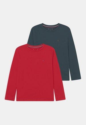 TEE 2 PACK - Long sleeved top - primary red/mystic lake