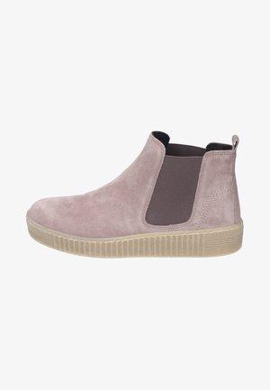 Platform ankle boots - rose