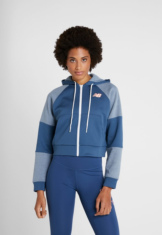 ACHIEVER FULL ZIP - veste en sweat zippée - stoneblu