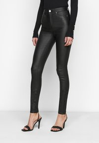 ONLY Tall - ONLOPTION SUPER COAT  - Jeans Skinny Fit - black - 0