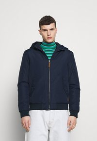 Jack & Jones - JJFLYNN HODDED BOMBER - Light jacket - navy blazer - 0