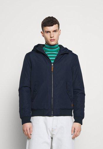 JJFLYNN HODDED BOMBER - Light jacket - navy blazer