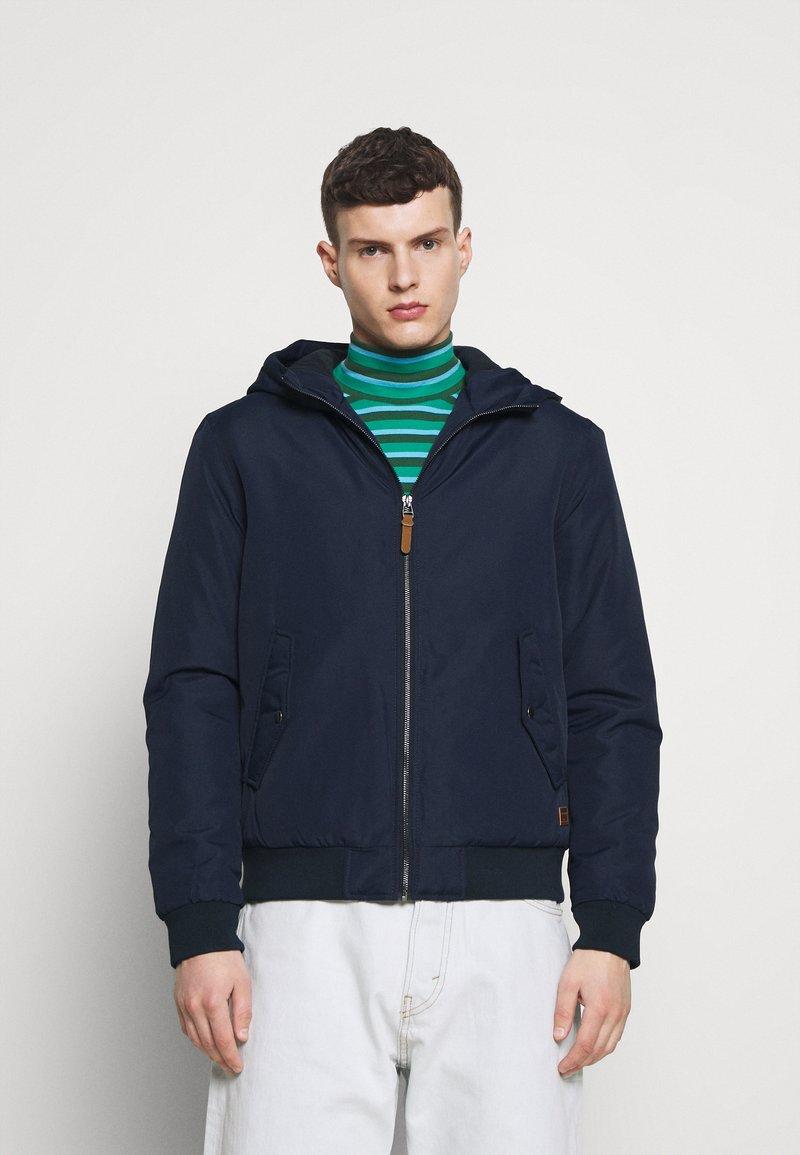 Jack & Jones - JJFLYNN HODDED BOMBER - Light jacket - navy blazer