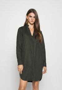 G-Star - MILARY V NECK SHIRT DRESS L\S - Day dress - raven - 0
