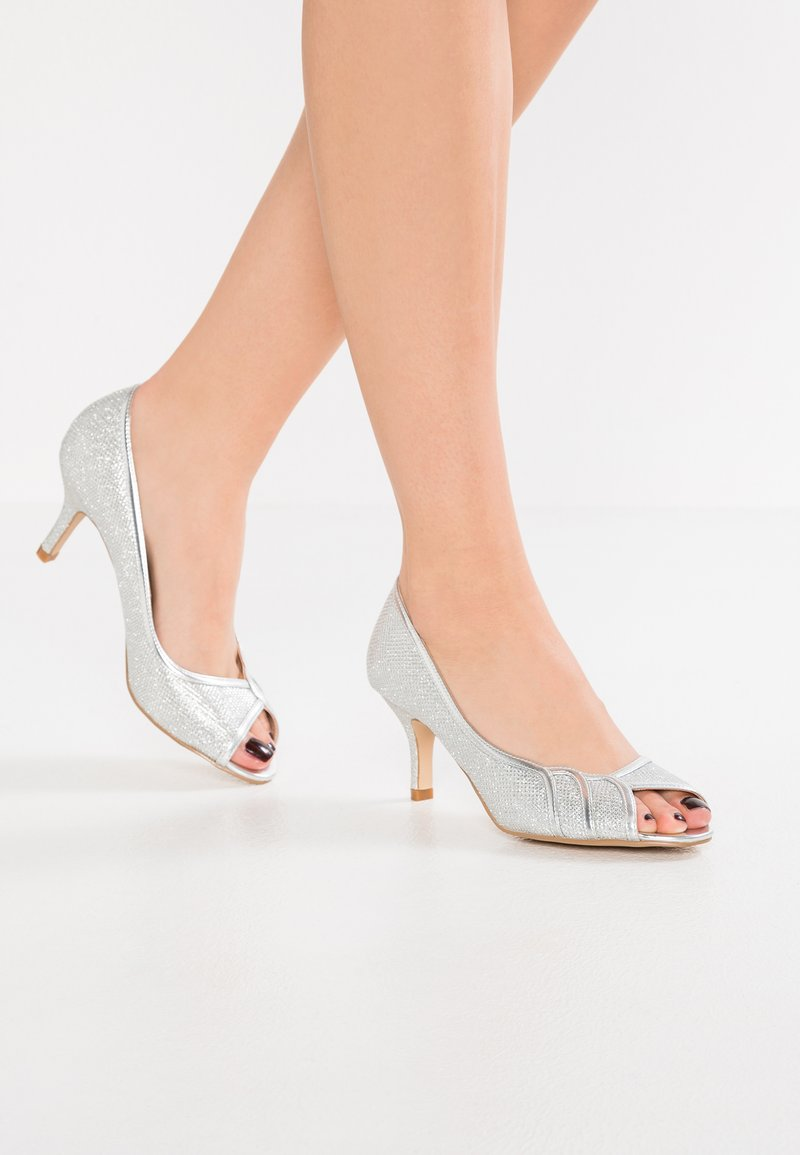 Paradox London Pink - CHESTER - Peeptoes - silver glitter