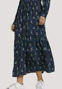 TOM TAILOR DENIM - Maxi dress - navy anchor print - 3