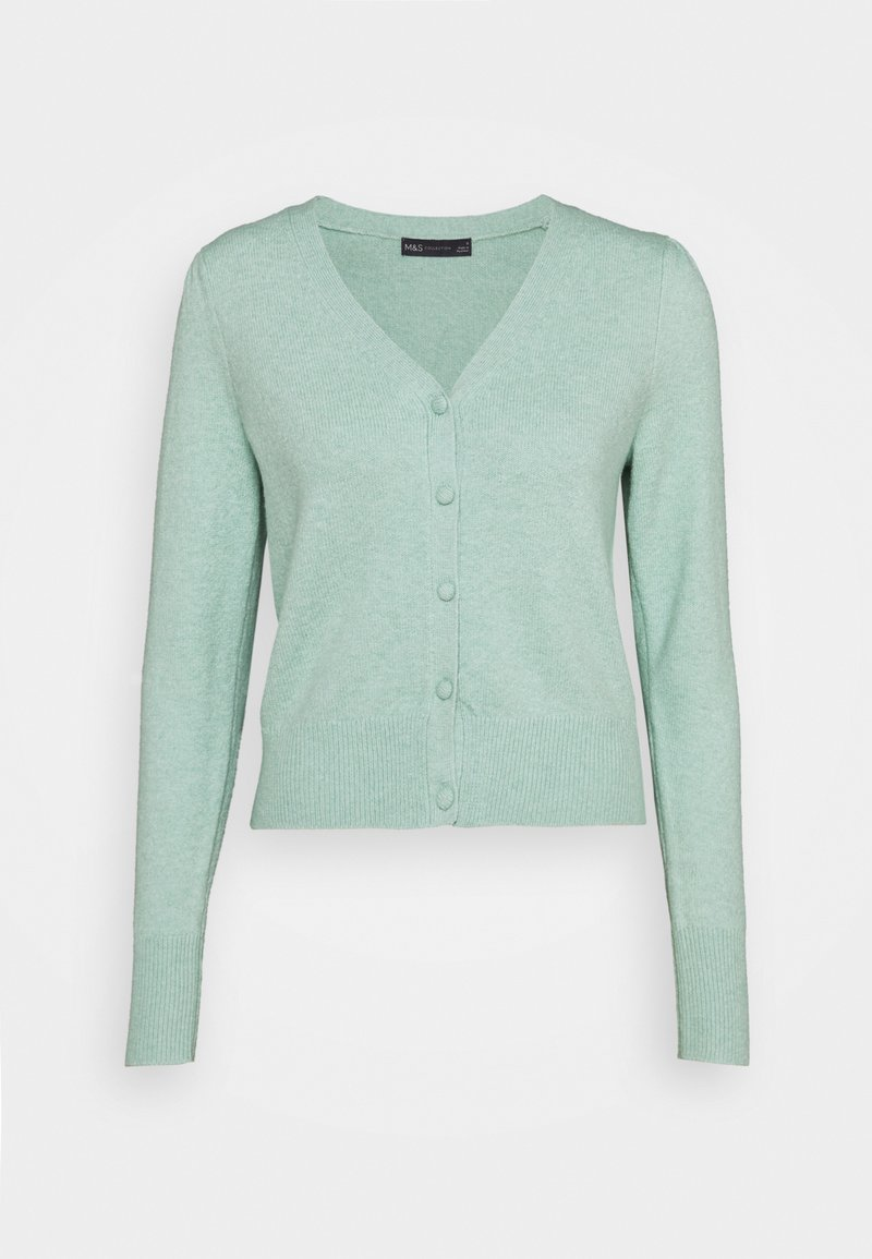 Marks & Spencer London - PLEAT SLEEVE  - Cardigan - green