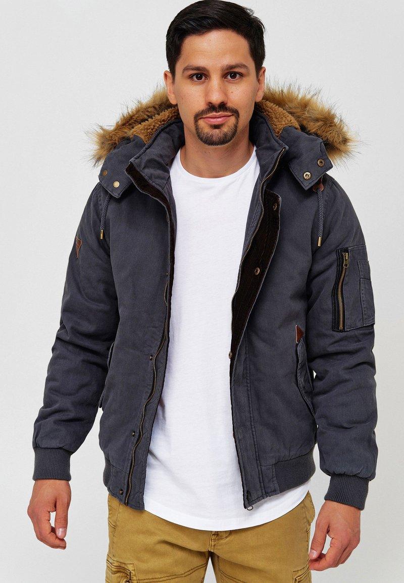 INDICODE JEANS - Winter jacket - dk grey