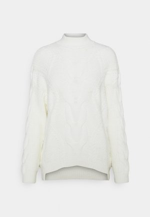OVERSIZED CABLE  - Jumper - white