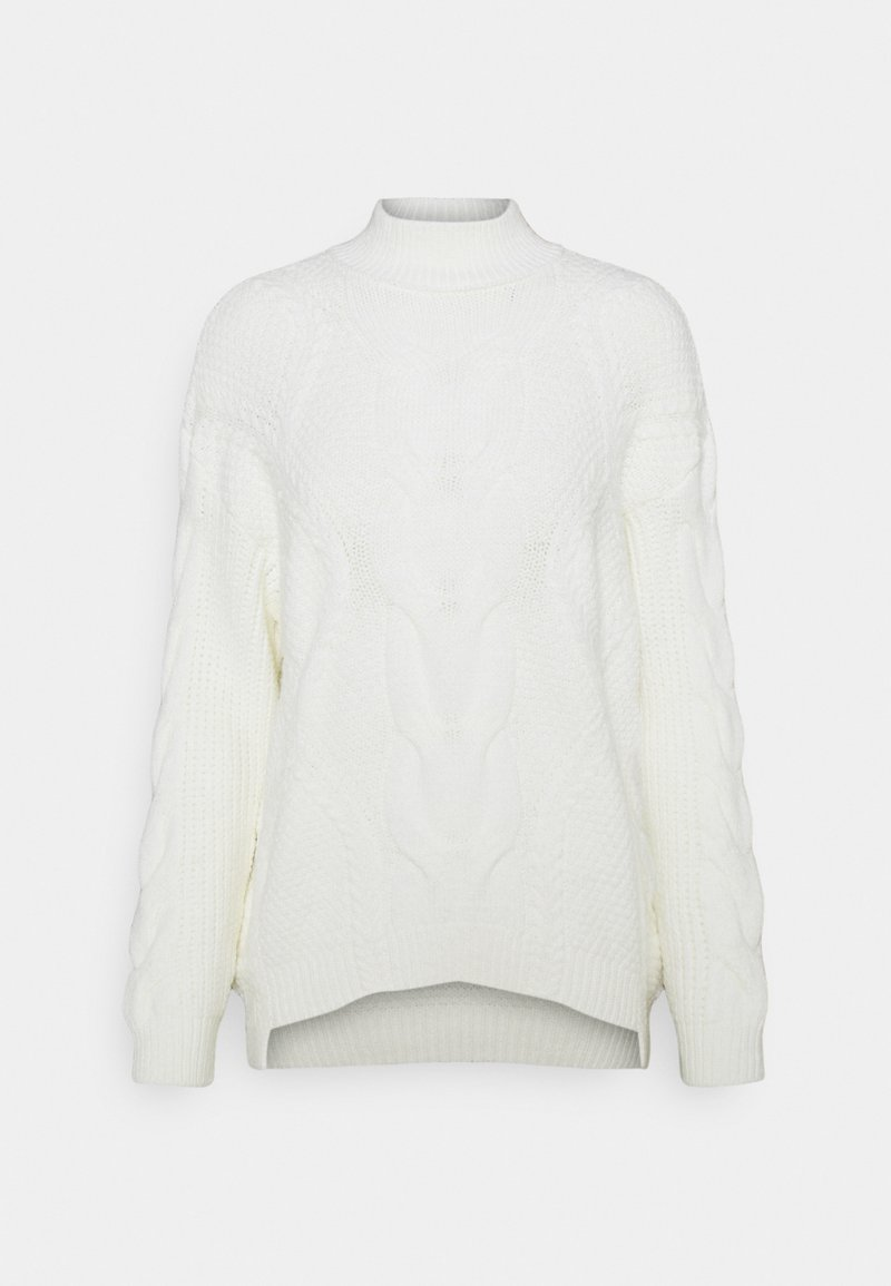 NA-KD - OVERSIZED CABLE  - Jumper - white