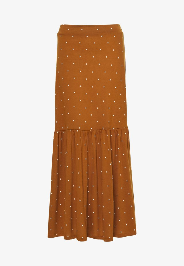 OBJCAROLINE LONG SKIRT - Maxi skirt - sugar almond/cloud dancer